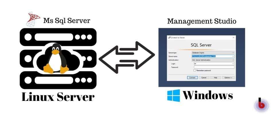 MS SQL Server on Linux <=> Management Studio (SSMS) on Windows (via ssh)